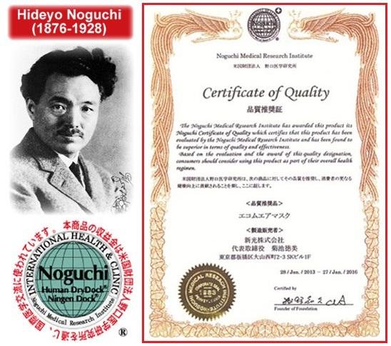 Ногучи сертификат
